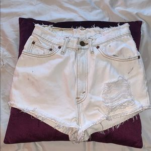 High waisted Levi's Jean shorts